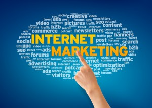 word cloud about internet marketing